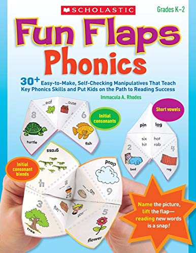 9780545280792: Fun Flaps: Phonics: 30 Easy-to-Make, Self-Checking Manipulatives That Teach Key Phonics Skills and Put Kids on the Path to Reading Success