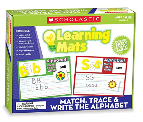9780545302029: Match, Trace & Write the Alphabet Learning Mats