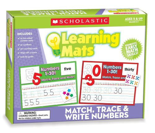 9780545302043: Match, Trace & Write Numbers Learning Mats
