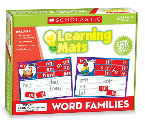 Word Family Learning Mats: Teaching Resources, Scholastic
