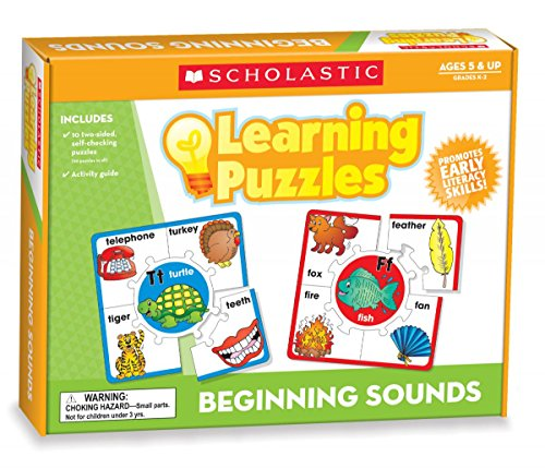 9780545302210: Beginning Sounds Learning Puzzles