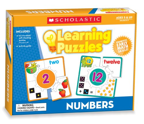 9780545302296: Numbers Learning Puzzles