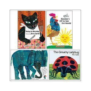 9780545306881: Eric Carle Set (4 Books) (The Grouchy Ladybug; Today is Monday; Do You Want to Be My Friend?; Rooster's Off to See the World)