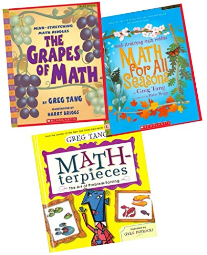 9780545317412: Greg Tang Math Pack (3 Books) (Includes: MATH-terpieces: The Art of Problem Solving; The Grapes of Math: Mind-Stretching Math Riddles; and Math for all Seasons: Mind Stretching Math Riddles)