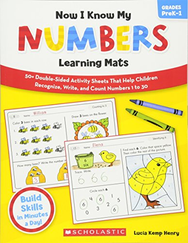 9780545320627: Now I Know My Numbers Learning Mats, Grades PreK-1