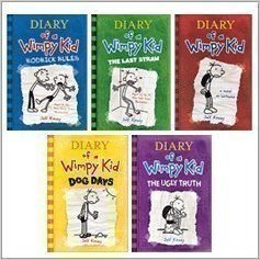 Diary of a Wimpy Kid 5 Book Set: Diary of a Wimpy Kid, Rodrick Rules, The Last Straw, Dog Days, The