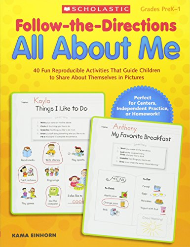 9780545329590: Follow-the-Directions All About Me: 40 Fun Reproducible Activities That Guide Children to Share About Themselves in Pictures