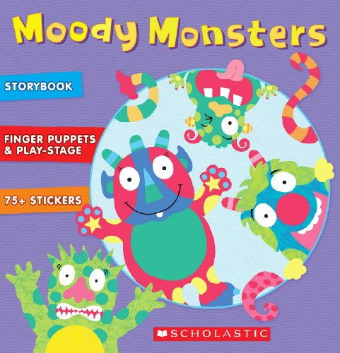 9780545362528: Moody Monsters [With 75+ Stickers and 7 Paper Finger Puppets and Foldout Play Theater] (Alex Toys)