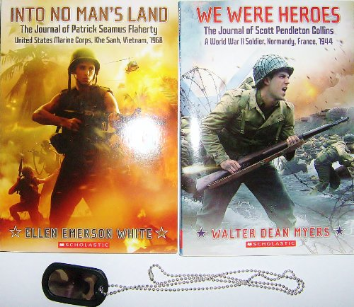 9780545429702: We Were Heroes: The Journal of Scott Pendleton Collins and Into No Man's Land Set with Dog Tags