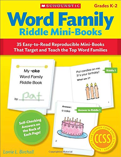 9780545442770: Word Family Riddle Mini-Books: 35 Easy-to-Read Reproducible Mini-Books That Target and Teach the Top Word Families