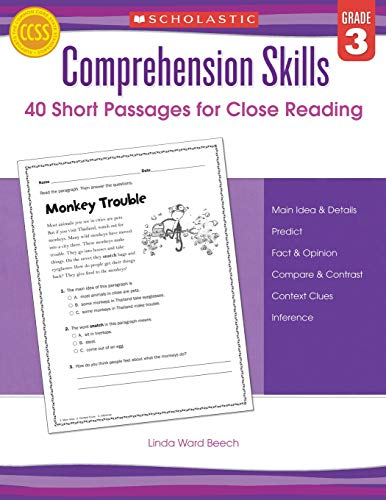 9780545460545: Comprehension Skills: Short Passages for Close Reading: Grade 3