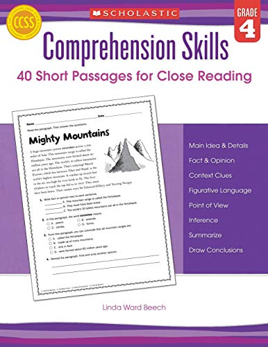 9780545460552: Comprehension Skills: Short Passages for Close Reading: Grade 4