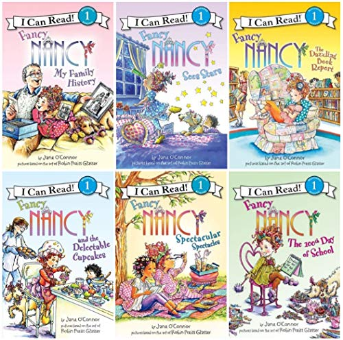 9780545460644: Fancy Nancy Six Book Super Reader Set (I Can Read Book 1) (Includes: Fancy Nancy and the Delectable Cupcakes; Fancy Nancy Spectacular Spectacles; Fancy Nancy My Family History; Fancy Nancy The Dazzling Book Report; Fancy Nancy Sees Stars; Fancy Nancy the 100th Day of School)