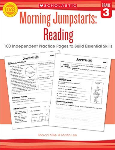 9780545464222: Morning Jumpstarts: Reading (Grade 3): 100 Independent Practice Pages to Build Essential Skills