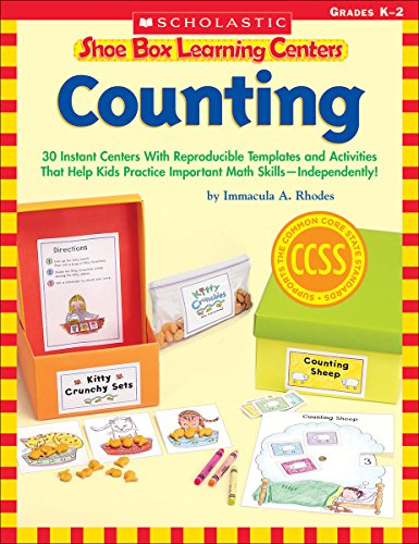 9780545468671: Shoe Box Learning Centers: Counting: 30 Instant Centers with Reproducible Templates and Activities That Help Kids Practice Important Literacy Skills--