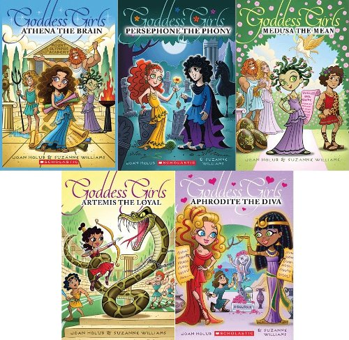 9780545481748: Goddess Girls 5 Book Boxed Set: Artemis the Loyal, Aphrodite the Diva, Athena the Brain, Persephone the Phony, Medusa the Mean (Goddess Girls, 5 Book Set)