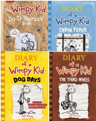 Diary wimpy kid collection books by jeff kinney abebooks diary of a wimpy kid 4 book kinney jeff solutioingenieria Gallery