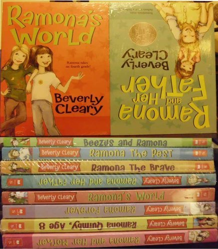 9780545483254: Beverly Cleary 8 book Ramona set: Beezus and Ramona, Ramona the Pest, Ramona the Brave, Ramona and Her Father, Ramona and Her Mother, Ramona Quimby Age 8, Ramona Forever, Ramona's World
