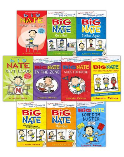 9780545484275: Big Nate 10 Book Collection Brand New (Paperback) Lincoln Peirce (Big Nate On A Roll, Big Nate Goes For Broke, Big Nate In A Class By Himself, Big Nate Boredom Buster, Big Nate Strikes Again, Big Nate From The Top, Big Nate Out Loud, Big Nate and Friends, Big Nate Makes the Grade Big, Nate Flips out)