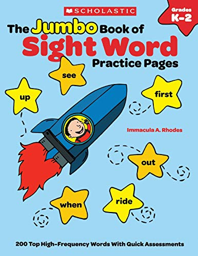 9780545489720: The The Jumbo Book of Sight Word Practice Pages: 200 Top High-Frequency Words With Quick Assessments (Learning Express)