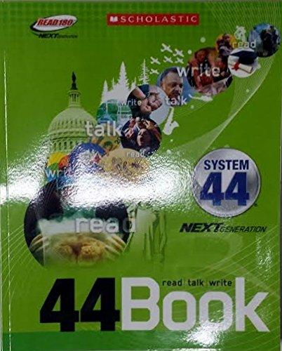 9780545501255: Scholastic Read 180 Next Generation System 44 Stage C 44Book Read/Talk/Write