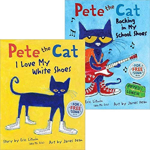 9780545519229: Pete the Cat Pack: Pete the Cat: I Love My White Shoes; Pete the Cat: Rocking in My School Shoes