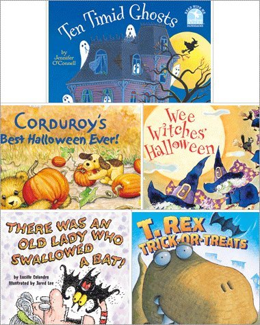 9780545532105: Halloween Childrens Set of 5 Paperback Books Includes Ten Timid Ghosts, Corduroy's Best Halloween Ever!, Wee Witches' Halloween, T-rex Trick-or-treats, & There Was an Old Lady Who Swallowed a Bat!