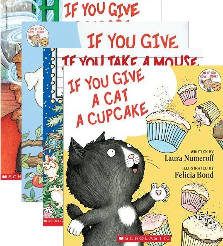 9780545534376: If You Give A Dog A Donut 4 Book Set: Includes If You Give a Dog a Donut / If You Give a Cat a Cupcake / If You Give a Moose a Muffin / If You Take a Mouse to the Movies (If You Give ... Books)