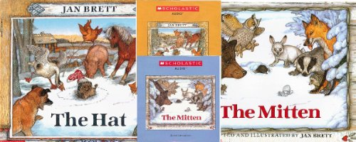 9780545541947: Jan Brett Winter Pack: 2 Books Plus 2 CDs: Includes the Hat, the Mitten, and an Audio CD Companion for Each.