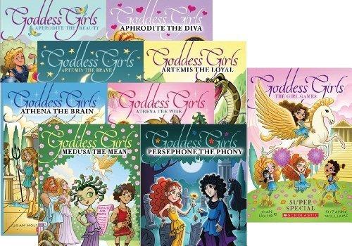 The Goddess Girls Super Set 9 Books Includes Aphrodite the Beauty, Aphrodite the Diva, Artemis the ...