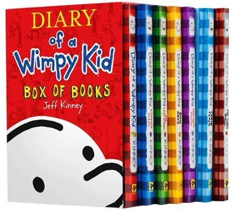 9780545547512: Diary of a Wimpy Kid Box Set Plus Sticker Sheet : Diary of a Wimpy Kid: A Novel in Cartoons, Rodrick Rules, The Last Straw, Dog Days, The Ugly Truth, Cabin Fever, and The Third Wheel