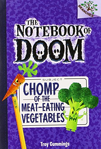 9780545553001: The Notebook of Doom #4: Chomp of the Meat-Eating Vegetables (A Branches Book) - Library Edition