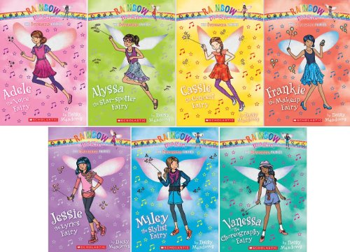9780545562126: Superstar Fairies Complete 7 Book Set: Jessie the Lyrics Fairy, Adele the Voice Fairy, Vanessa the Choreography Fairy, Miley the Stylist Fairy, Frankie the Makeup Fairy, Alyssa the Star-Spotter Fairy, and Cassie the Concert Fairy (Rainbow Magic)