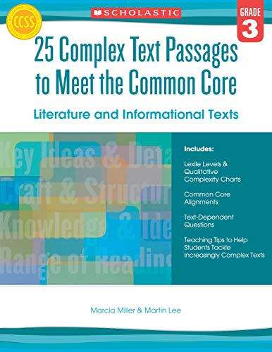 9780545577090: 25 Complex Text Passages to Meet the Common Core: Literature and Informational Texts: Grade 3