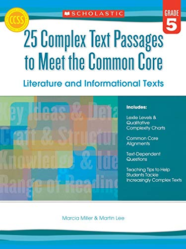 9780545577113: 25 Complex Text Passages to Meet the Common Core: Literature and Informational Texts: Grade 5