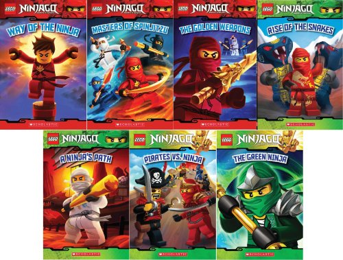 9780545657532: LEGO� Ninjago Reader Pack: 7 Book Set: #1: Way of the Ninja / #2: Masters of Spinjitzu / #3: The Golden Weapons / #4: Rise of the Snakes / #5: A Ninja's Path / #6 Pirates vs. Ninja / #7 The Green Ninja
