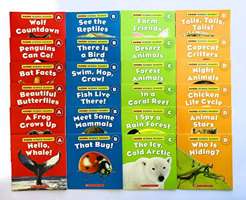 9780545658768: Illustrated Guided Science Reader Collection of Animal Readers: A BIG Collection of 24 High-Interest Leveled Books for Guided Reading