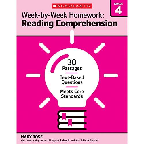 Week-by-Week Homework: Reading Comprehension Grade 4: 30: Gentile, Margaret S,