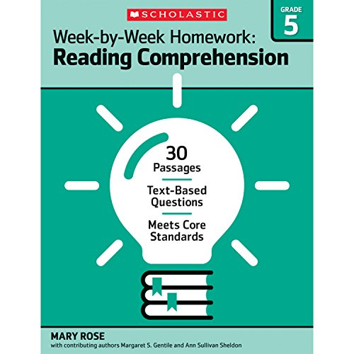9780545668897: Week-by-Week Homework: Reading Comprehension Grade 5: 30 Passages · Text-based Questions · Meets Core Standards