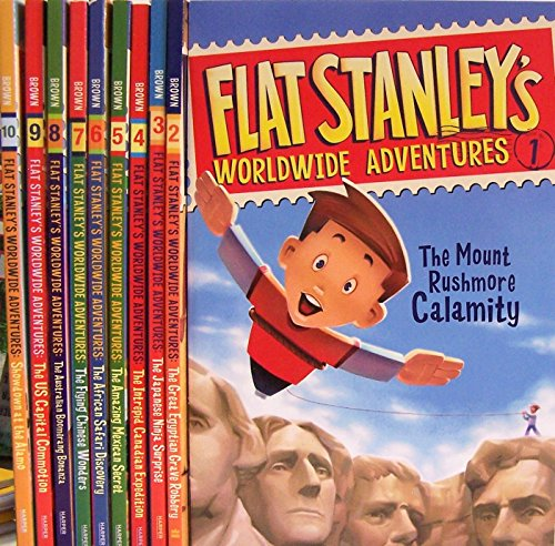 9780545763486: Flat Stanley's Worldwide Adventures #1–#10 Pack: Intrepid Canadian Expedition, Amazing Mexican Secret, African Safari Discovery, Flying Chinese Wonders, Australian Boomerang Bonanza, US Capital Commotion, Showdown at the Alamo + Three More Titles