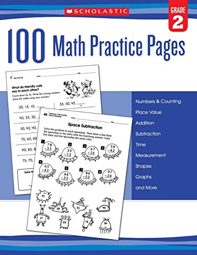 9780545799386: 100 Math Practice Pages (Grade 2)