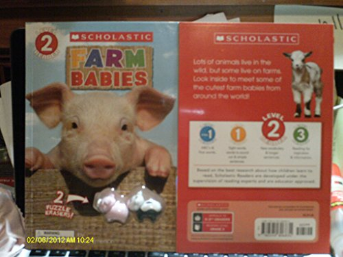 Farm Babies Level 2 Reader (Includes 2 Piggy Erasers) [Paperback]: Joan Emerson