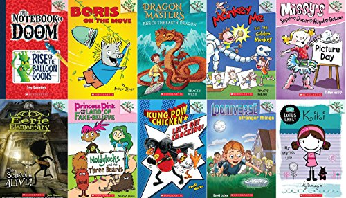 9780545817356: Branches Starter Library: 1st Books in Each of the 10 Branches Series: Looniverse, Kung Pow Chicken, Princess Pink and the Land Of Fake Believe, Lotus Lane, Eerie Elementary, Missy's Super Duper Deluxe, Monkey Me, Dragon Masters, Boris on the Move