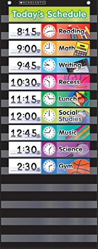 9780545838658: Daily Schedule (Black) Pocket Chart
