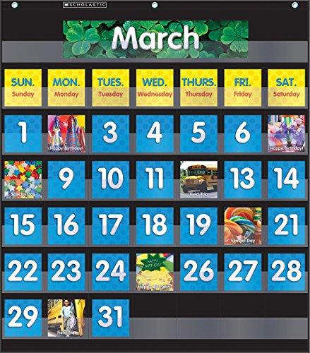 9780545838665: Monthly Calendar - Black Pocket Chart