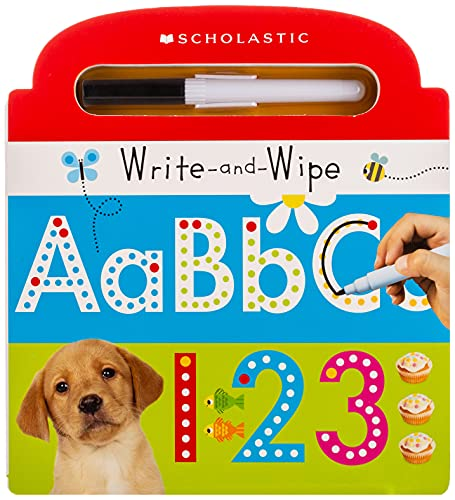 9780545906401: Write and Wipe ABC 123 (Scholastic Early Learners)