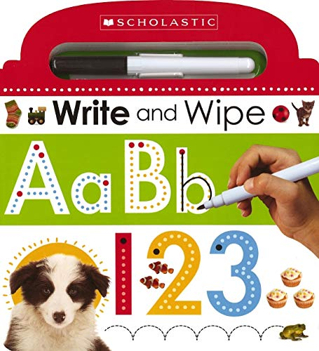 9780545915359: Write and Wipe ABC 123 (Scholastic Early Learners)
