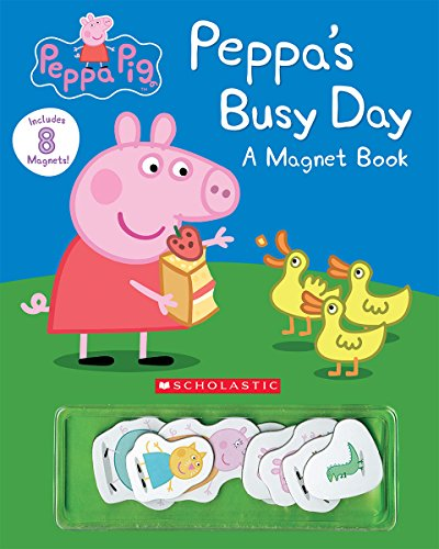 9780545925457: Peppa's Busy Day Magnet Book (Peppa Pig)
