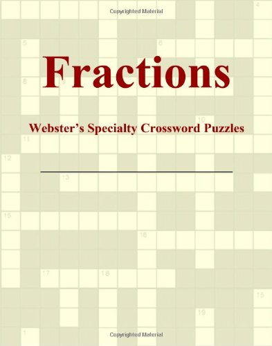 9780546426595: Fractions - Webster's Specialty Crossword Puzzles