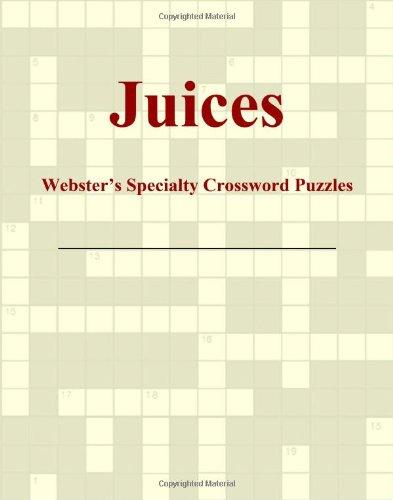 9780546428292: Juices - Webster's Specialty Crossword Puzzles
